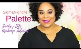 Sigma Nightlife Palette Smokey Eye Makeup Tutorial