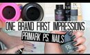 ONE BRAND FIRST IMPRESSION - Primark PS Nails | NAIL POLISH WEEK
