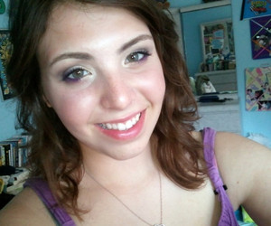 makeup for a party! purple-gold-brown - i like it :D