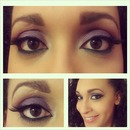 Purple Green Arab Makeup
