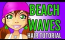 Beachy Waves Hair Tutorial - Super Easy Wavy Beach Hair for Long Hair