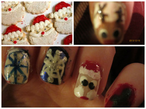Yea, I have wanted to do nails similar to this forever, so glad it is this time so I can. The top left picture is not mine, I found it on the internet here: http://favim.com/image/300056/. Who else is exited for Christmas?