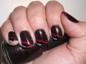 Rip City!! Trailblazer Nails. http://polishmeplease.wordpress.com