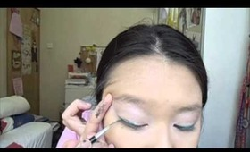 The Summer Season 2013 - Teal Winged Liner Tutorial
