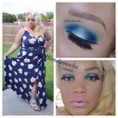 Blue and White Eyeshadow Look