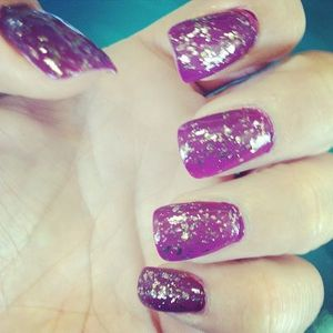 I totally need to get my nails filled but had to post this color & Foil!!!