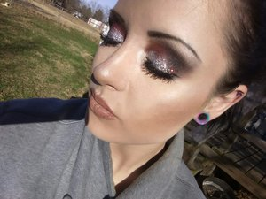 colorful random look I did last night  really want to post how to stuff, take better pics and get out there but I need help. anything helps ig:mrsthompson0126  https://www.gofundme.com/haleys-business-start