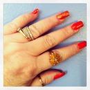 Orange with glitter!