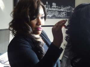 Me doing makeup for Don Panam's music video