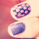 Sparkly Purple Polka Dots