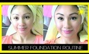 GET READY WITH ME! SUMMER FOUNDATION ROUTINE!