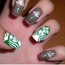 Starbucks nails ☕️
