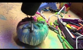 DIY- Crayon Melting on Pumpkins