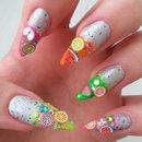 Fimo fruit manicure