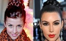 Kim Kardashian New Years Updo