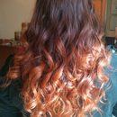 Ombré Hair with Curls
