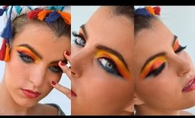 COLORFUL MAKEUP TUTORIAL | COLOR MAKE UP | BRIGHT EYES | RAINBOW EYE