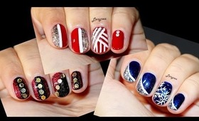 Three Christmas Designs for Short Nails