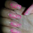 neutrak  neutral and pink polkadots