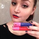 Playing with lipsticks