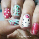 Acrylic Paint Kitty Nails