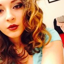 Plum smokey eye, Mocha lips & Curly hair