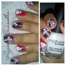 nail art snow flake (beginner)