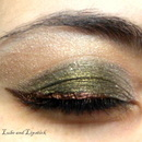Olive Eyes with Bronze liner