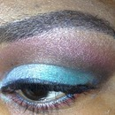 Blue and brown blend