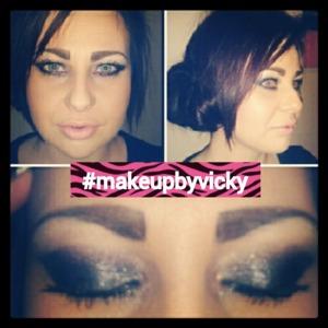 smokey eyes with nude lip