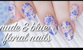 Floral Nails Using Only Two Polishes! | Lacquerstyle