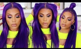 WATCH ME SLAY THIS WIG| PURPLE HAIR COLOR TUTORIAL