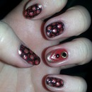 Black, red and gold leopard print