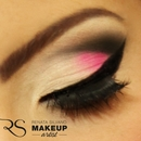 Pink, black and alvory cut crease makeup