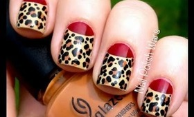 Leopard nails art designs- Leopard nail designs for beginners cute nail polish designs DIY tutorial