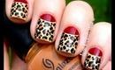 Leopard nails art designs- Leopard nail designs for beginners cute nail polish designs DIY tutorial