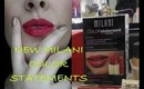 LIP SWATCHES for MILANI'S NEW ORANGE&RED COLOR STATEMENTS