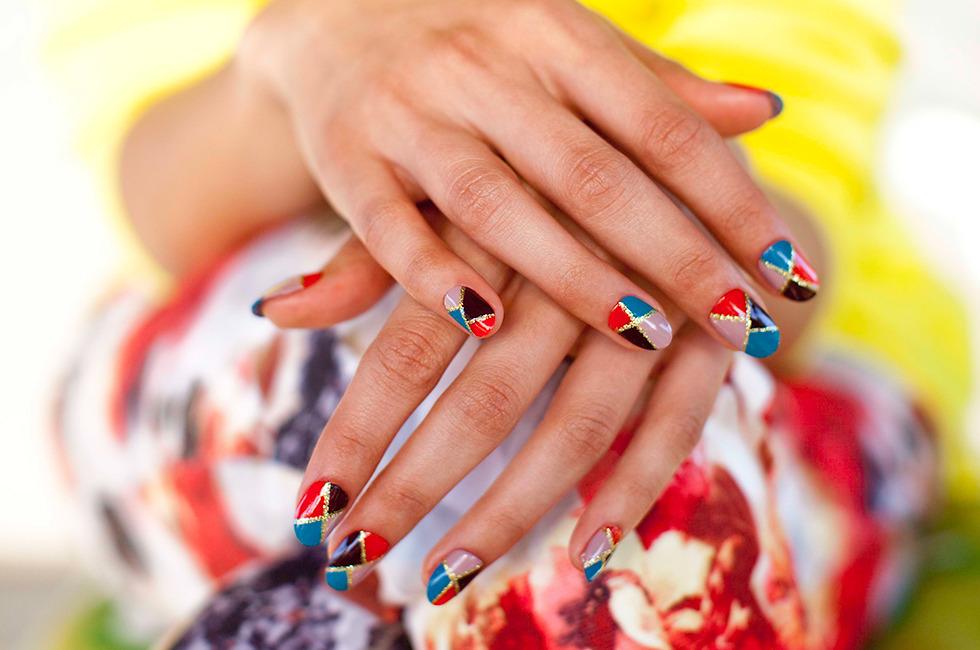 DIY Mosaic Nails! A Tutorial by Madeline Poole | Beautylish