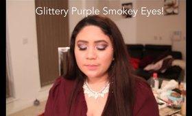 Glittery Purple Smokey Eyes for the holidays + NYE! | 2015