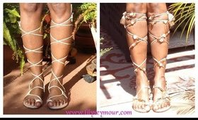 How To DYI Gladiator Sandals