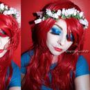 Makeup Glam Blue Sparkle Cherry Bomb 81