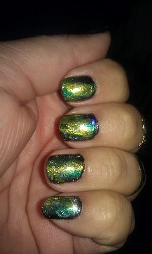 My Green Galaxy Nails....