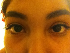 First try at make! My real lashes ❤