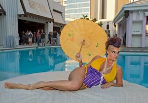 SLS Las Vegas, makeup done by yours truly 💋