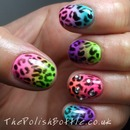 Neon leopard gradient