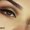 Smokey eyes plus glitter