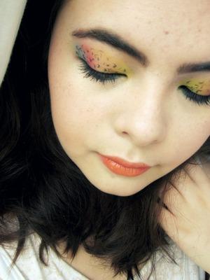 Rainbow Leopard print eyes
