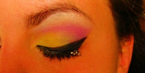 used my coastal scents 88 palette and Ardelle lashes with some bling
