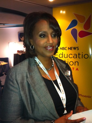 NBC's Donna Lowery ready for the education roundtable.