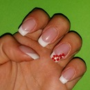 French Nails/Nails/Nail Art/Flower/French